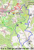 Streckenkarte der 32. Erlbacher Bergwanderung