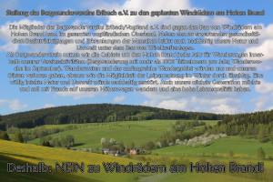 Stellung des Bergwandervereins Erlbach e.V. zu den geplanten Windrädern am Hohen Brand