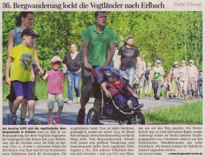 Artikel Freie Presse - Vorschau 36. Bergwanderung